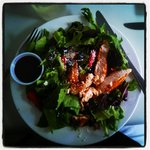 Berry-Delicious Salad with grilled chicken (minus the nuts)