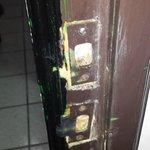 cerradura de la puerta