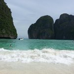Maya Bay, Supe made sure we are the first group to arrive and relax before the crowd set in!