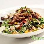 Salade canard confit