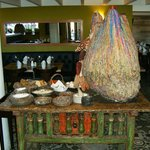 Interesting table of traditional Peruvian items