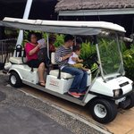 Shuttle golf cart service from the lobby to your room! If you don't want to walk. This resort is
