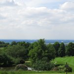 The hotel's golf course with the Cheshire Plain beyond