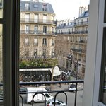 Cafe de Flore right outside our room
