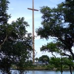 huge cross where Spaniards first landed