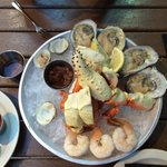 Raw bar for 2 (after eating a few clams). :)