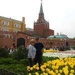 Hubby and me in front of the Kremlin