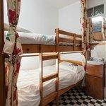 5-bed mixed dorm.