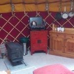 inside 18ft yurt