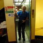 Very small elevator!!!  But it worked wonderfully.