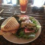 Turkey Sandwich and salad