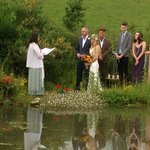An elopement by the pond