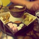 Luxurious chocolate fondue
