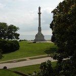 View from terrace, monument and York River