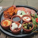 Fabulous value sharing platter included lots of crusty bread!