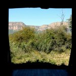 View of the Waterberg Mountains from the front entrance of our room