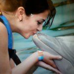 I kissed a dolphin and I liked it!!