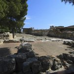 An area where Minoans leisured, put on plays, etc.