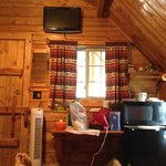 View from bed in cabin (ignore my foot!)