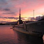 USS Bowfin at Sunset