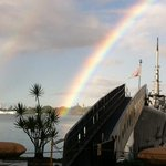 USS Bowfin Blessed by Double Rainbow