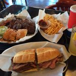 Ribs and Tri tip Sandwich