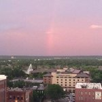 kind of a rainbow.  looking East from 10th floor.
