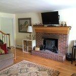 Suite—Livingroom Fireplace