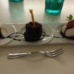 Tris di dolci fatti dalla signora Antonella chef del Cefalo.
