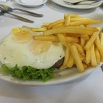 meat eggs and fries