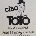 Ciao Toto business card
