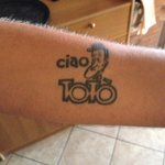 Ciao Toto TATTOO on the owner's arm!