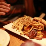 Shoestring Fries and the Smokehouse Burger