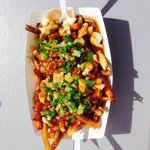 Bacon Poutine. Wow very large.