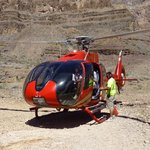 helicopter in a Canyon