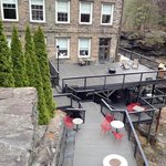 Large Patio on the falls
