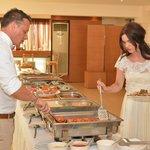 Greek BBQ Wedding food! AMAZING!
