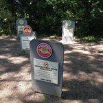 The graveyard of flavors RIP. So cute. Short walk up a brief hill.