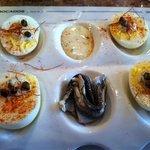 Boquerones con huevos