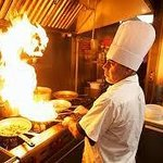 Chef on fire