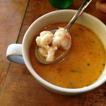 The famous soup- super tender lobster!