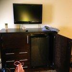 Tv,microwave,fridge