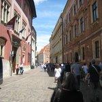 uma das ruas de Cracovia