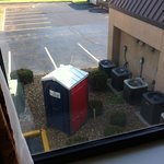 "view of a port-a-potty from my room is a reminder of the ""unadvertised"" construction at this hot"