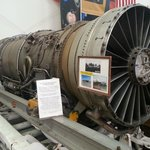 Examine a real jet engine close up
