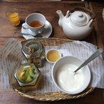 Yogurt breakfast set at Cafe Mazzo (next door)