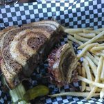 Reuben with fries.