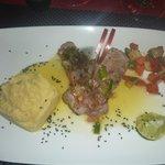 Steak de Marlin sauce créole et sa purée d'igname