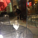 True ambience :-( The waiter hosing down the patio just 4 feet away from us while trying to enjo