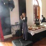 Our singer at Theatrum Restaurant